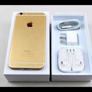 iPhone 6 + Plus Gold 金 16g