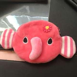 #50元文具出清 小象粉色零錢包#全新 #無使用過