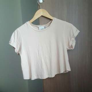 Asos Pastel Orange Crop Top