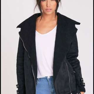 Pretty Little Thing Emilia Aviator Jacket RRP. 90