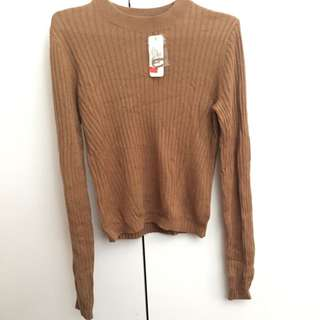 SPORTSGIRL - Basic Brown Fitted Knit Size XS