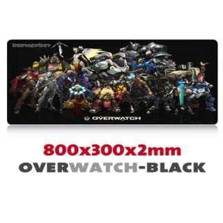 OVERWATCH Black Extra Large Mousepad Anti-Slip Gaming Office Desktop Coffee Dining Tabletop Decorative Mat