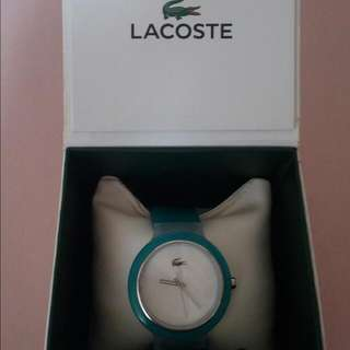 Mint Green Authentic Lacoste Watch For Women