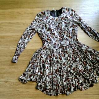H&M Autumn Print Dress (Sz Euro 36)