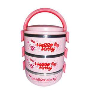 Nomuri Karakter Hello Kitty Lunch Box Stainless Rantang 3 Susun