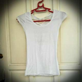 White Shirt With Criscrossed Back