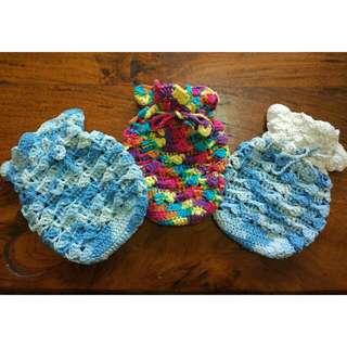 Handmade Crochet Pouch (Kantong Rajut)