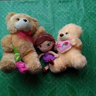Teddy Bear And Doll SET