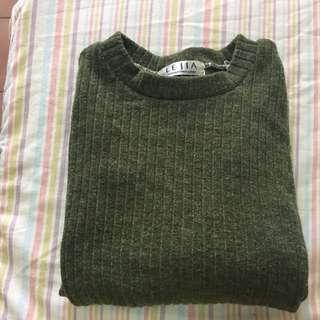 墨綠薄毛衣😻