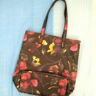 VELVET FLORAL SHOPPER BAG