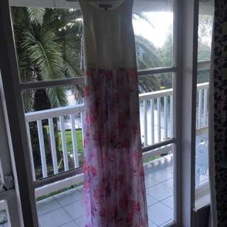 Forever New Long Floral Dress