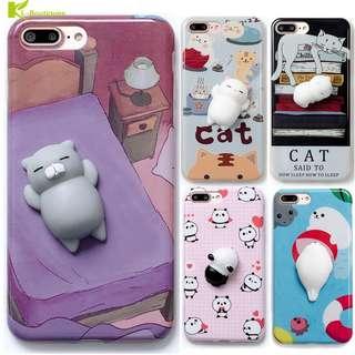 Cute Squishy Cat Seal Panda Phone Case