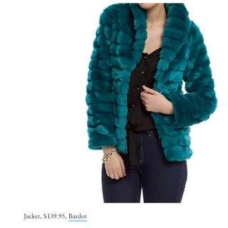 Bardot Faux Fur Jacket Size 6