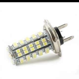 LED Car Led Light Bulbs For Parking Automobiles License Plate Lights Xenon 68 SMD Car 12V H7 LED Bulb Head Light Fog Lamp