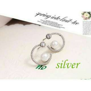 1 Pair Women Crystal Ear Clip Cuff Earring