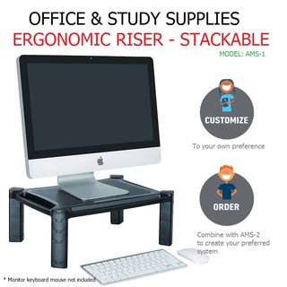 ✔FREE DELIVERY & FREE GIFT: AMS-1: Height-Adjustable Smart Stand
