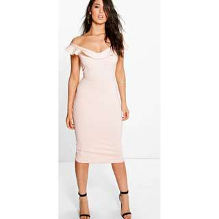 Brand new still with tag Anne Frill Sweetheart Off Shoulder Midi Dress Size 8 - PINK