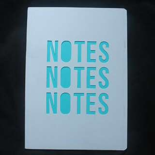 Notebook A5 White-Blue