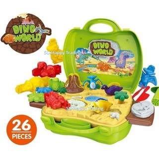DreamSuitcase Dino World Dough Fun Game For Kids