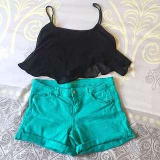 Promod Bluegreen Shorts