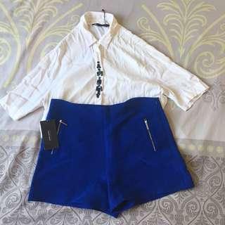 Zara Basic High Waist Shorts