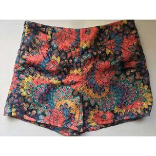 Cole Vintage Floral High Waist Shorts