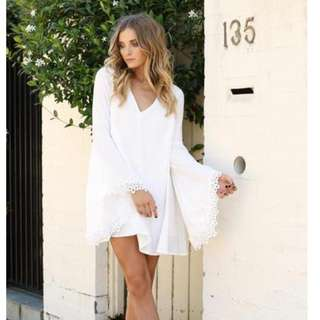 Fox And I - Swing Dress - White - XS