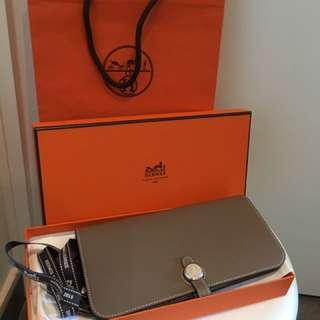 100% Real Hermes Dogon Wallet