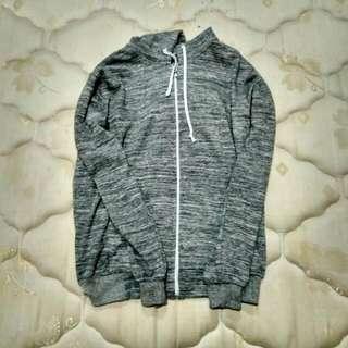 Hoodie Zipper All Size Grey