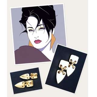 REPRICED 80s-themed accessories (earrings & 2 bangle bundle)