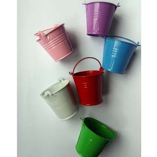 Small Pail or Tin Buckets Assorted Colors