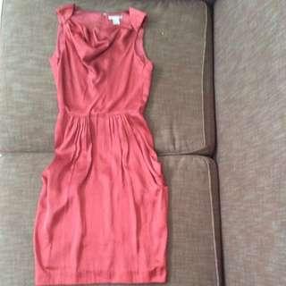 Dress Hnm Bahan Silk Size 32 (xs-s)