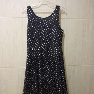 H&M Spotty Navy Blue Dress