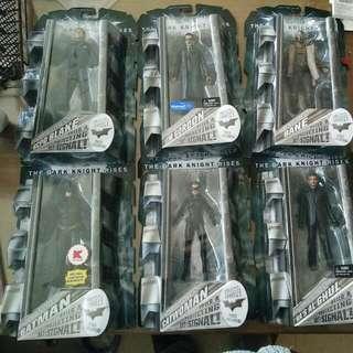 Movie Masters The Dark Knight rises Set Of 6: Kmart Exclusive Batman, Wal-Mart Exclusive Jim Gordon, Bane, John Blake, Catwoman, Ra's Al Ghul