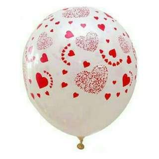 Balon Latex Hati Printing
