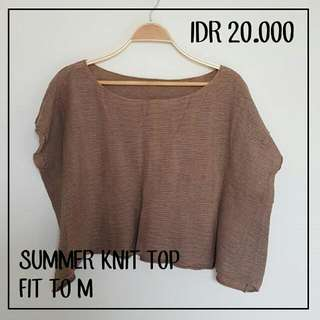 Summer Knit Top Fit To L
