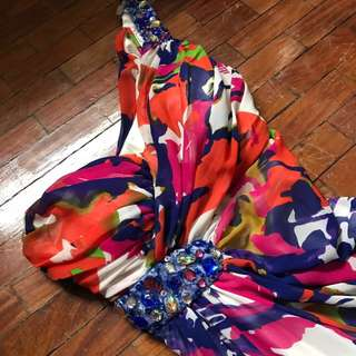 Designer Colorful Gown