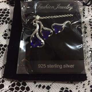 Silver & Sapphire Set