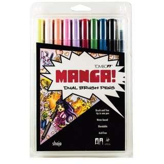 Tombow Manga Dual Brush Pens