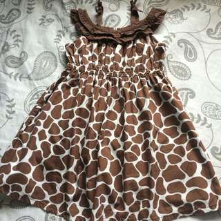 Gymboree Giraffe Print Dress 2-3T