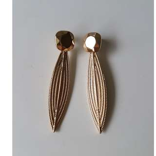 Gold Tone Earrings Brand New