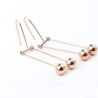 Rose Gold Tone Earrings Brand New