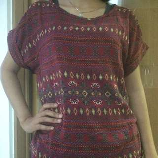 Tribal Maroon Top