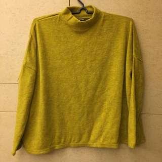 微領芥末黃上衣