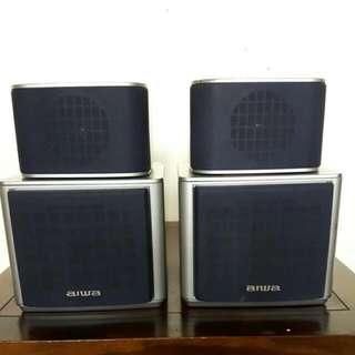 aiwa speaker system sx-m90 IMPEDANCE 8 ohms  good working condition
