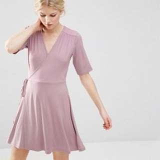 ASOS Petite Mini Tea Dress Wrap Front