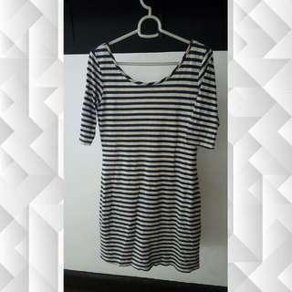 Striped 3/4 Dress