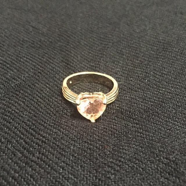 18k Rose Gold Heart Ring