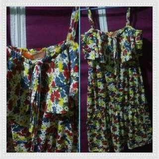 Mint Long Dress/Blouse