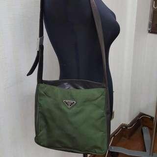 Prada Nylon/Leather Shoulder Bag